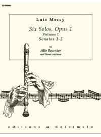 MERCY – Six Solos, Op 1 – Vol 1 (Alto Recorder, B.C.)