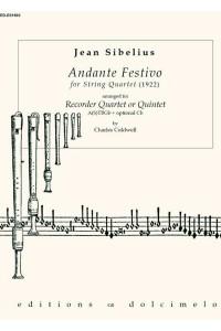 SIBELIUS - Andante Festivo (1922) for Quartet/Quintet (S)ATBGb+Cb
