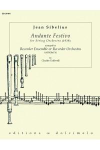 SIBELIUS- Andante Festivo (1938) for Recorder Orchestra (SATBGbCb)